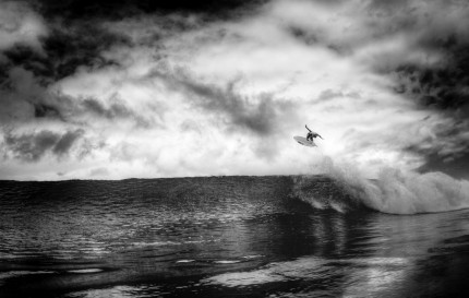 photo surf, Josh Kerr, noir & blanc.